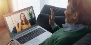 Employee receives virtual therapy and counseling for mental health and wellness support.